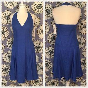 Lauren Ralph Lauren Dresses & Skirts - Lauren Ralph Lauren Blue Halter Linen Dress Size 4