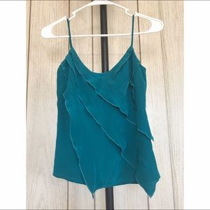 Barneys New York CO-OP Tops - Spaghetti Strapped Layered Blue Top