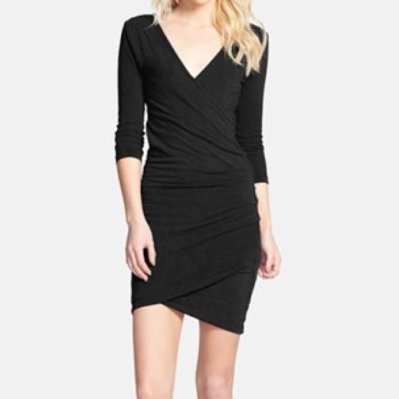 3445199d749 James Perse Dresses   Skirts - Black Faux Wrap Dress