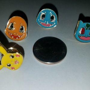 Pokemon enamel pin set