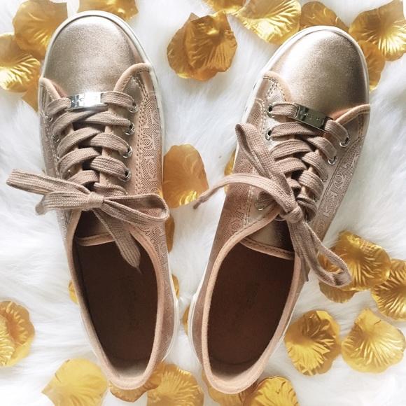 bebe Shoes | Bebe Rose Gold Dane Logo