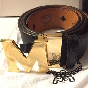 MCM Other - Authentic MCM Reversible Black and Tan