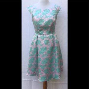 eshakti Dresses & Skirts - New Eshakti Floral Aqua Fit & Flare Dress 16W