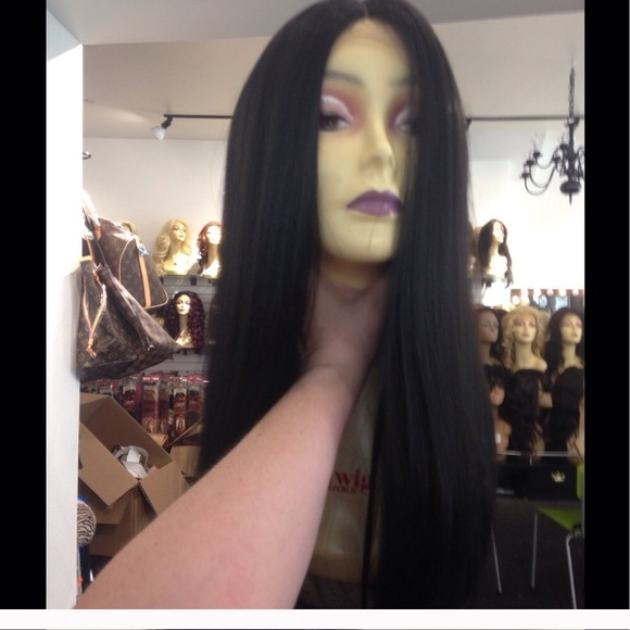 Thick Long Black Wig 5