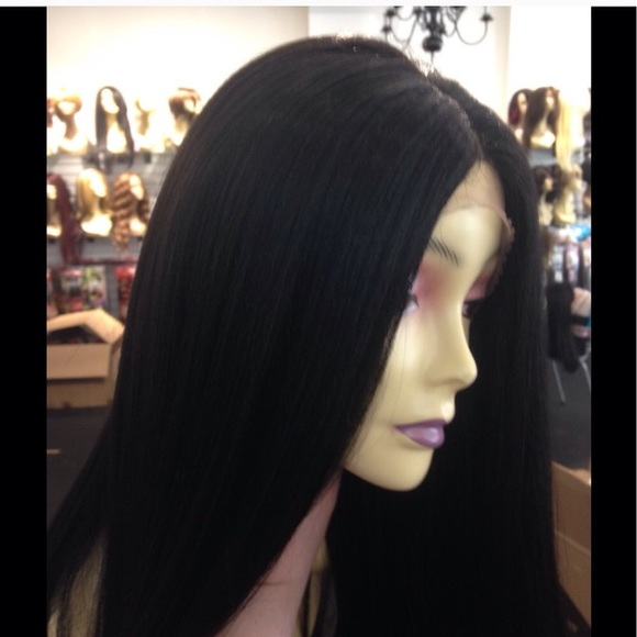 Thick Long Black Wig 67