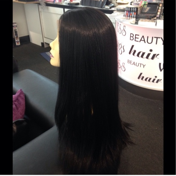 Thick Long Black Wig 16