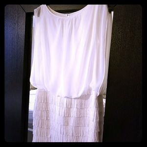 Cache Dresses & Skirts - White on White Cocktail Dress