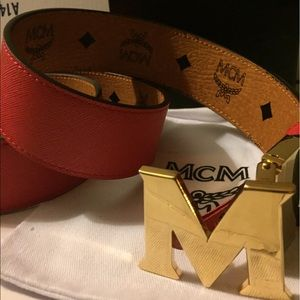 MCM Other - Authentic MCM Reversible Red and Tan