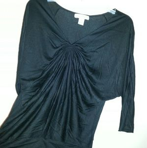 august silk Tops - August silk scrunched knit blouse