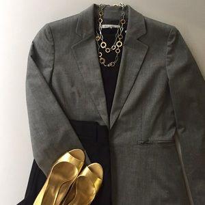 Tahari Jackets & Blazers - Tahari ASL Gray Blazer Jacket w/Clip Closure Sz 8