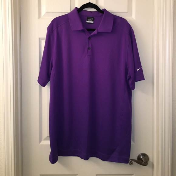 55 off nike other mens purple nike golf dri fit collar for Dri fit collar shirts