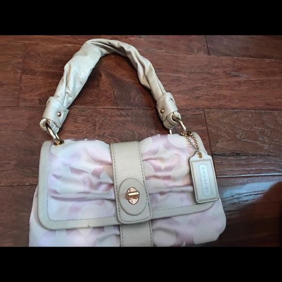 76 Off Coach Handbags Coach Purse Baby Pink So Pretty