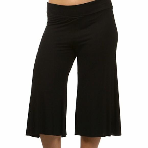 5371515359c41 New Plus wide leg Capri Gaucho Yoga pants 1x 2x 3x