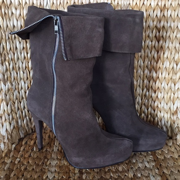 Rochas Suede Mid-Calf Boots free shipping best prices vuGGwne5R