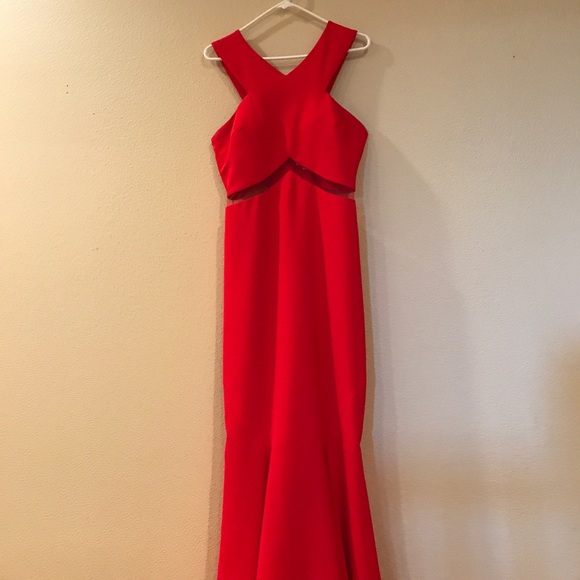 Bloomingdale\'s Dresses | Red Mermaid Prom Dress | Poshmark