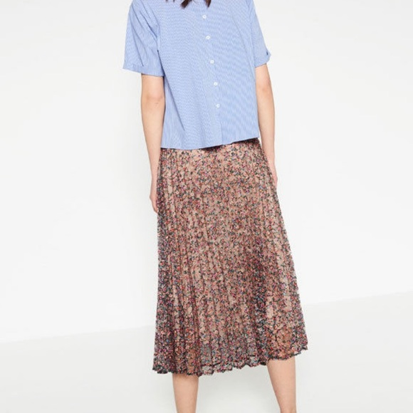 76 zara dresses skirts zara lace pleated