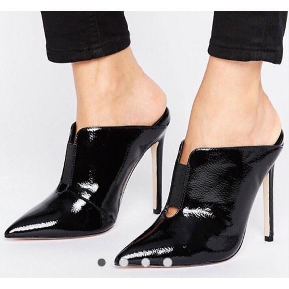 e6e51f38e ASOS Shoes   Poison Pointed Mules Heels Slip Ons   Poshmark
