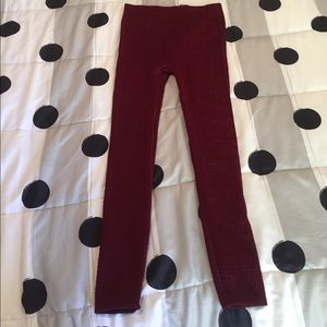 Hot Kiss Pants - BNWOT. Maroon leggings