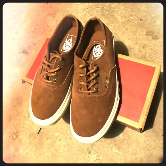 c0ea921f4a Brown suede Vans Authentic Slim