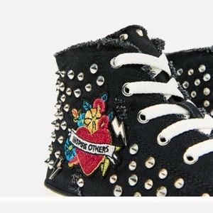 Zara Shoes - 🆕Zara high top sneakers , patch and studs