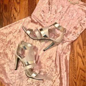 Audrey Brooke Shoes - *FLASH SALE* Silver Strappy Sandals