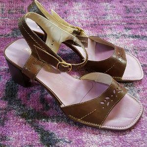Alberto Fermani Shoes - Alberto Fermani Brown Leather Sandals