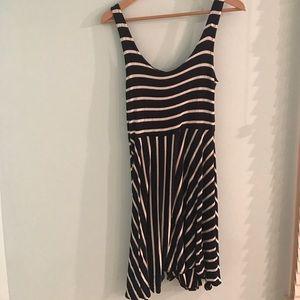 Forever 21 Dresses & Skirts - Navy and White Striped Dress