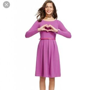 Boden Dresses & Skirts - Boden purple long sleeve Pleated dress size 4