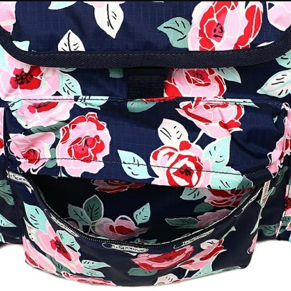 17 off lesportsac handbags lesportsac navy rose voyager. Black Bedroom Furniture Sets. Home Design Ideas