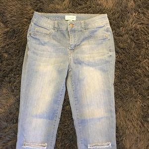 Blue Asphalt Pants - light wash ankle jeans