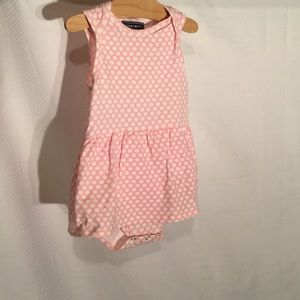 Toobydoo Other - 18-24m romper in pink white polka dot toobydoo