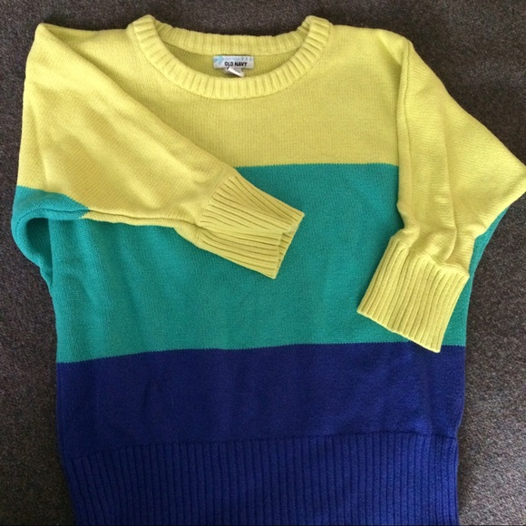 Old Navy Sweaters - Old Navy Cropped Colorblock Sweater