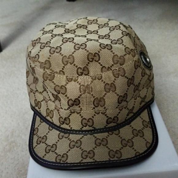 Gucci Other - Authentic men GUCCI canvas print hat 32a5cf82d71