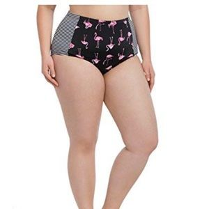 Torrid Flamingo Swim Bottoms NWT