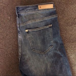 H&M Jeans - H&M Patched Skinny Jeans with Raw Edges