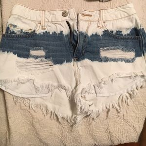 cello jeans Pants - White Washed Jean Shorts