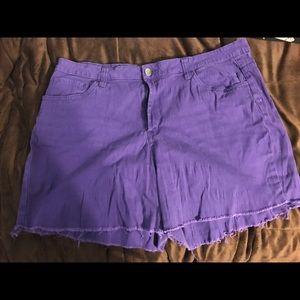 Hybrid Pants - Purple frayed shorts💜👖
