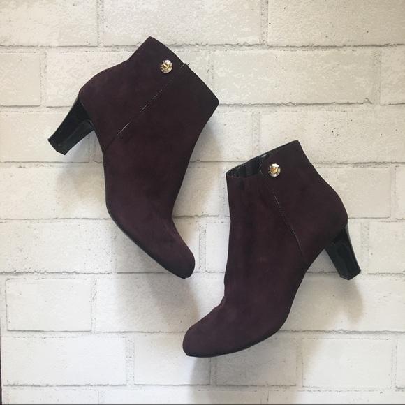 9a94711271 Ellen Tracy Shoes - 🍁3 for $25🍁 Purple Suede Booties | Ellen Tracy
