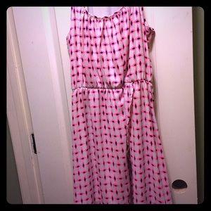  NWOT Pink/Navy Day Dress 