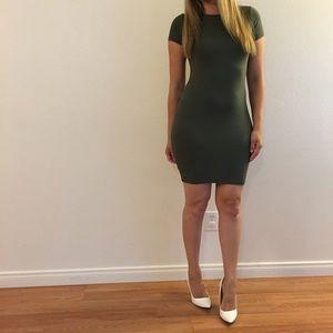 Dresses & Skirts - Military Green Tee Shirt Dress