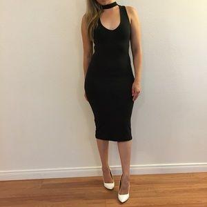 Dresses & Skirts - Choker Bodycon Midi Dress