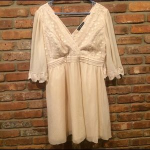 Little Mistress Dresses & Skirts - Cream bohemian party dress - WORN ONCE