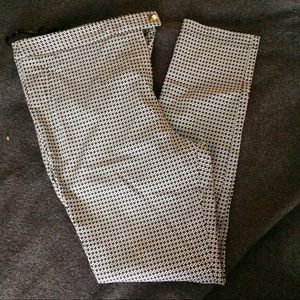 Black & White Patterned Skinny Trouser Pants