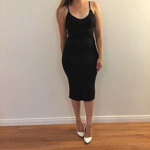 Back Slit Cami Midi Dress