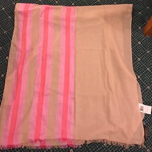 NWT Coach heritage stripe woven oblong/scarf
