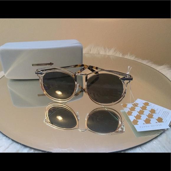 2ba4718b373e Karen Walker Simone Retro Sunglasses Gold