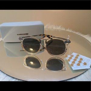 Karen Walker Accessories - Karen Walker Simone Retro Sunglasses Gold