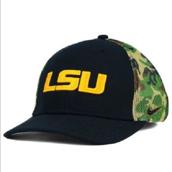 the latest 592cc 69a47 ... aliexpress lsu tigers ncaa nike swoosh flex fitted hat bb9ac 65aef