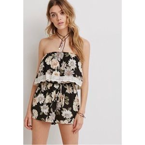 Floral Tube Top Romper