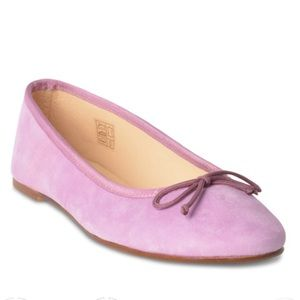 New Roberto Durville purple leather suede flats